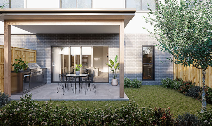 Brisbane Townhouses Courtyard