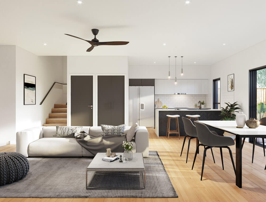 4 Bedroom Townhouse Brisbane Evoke McDowall
