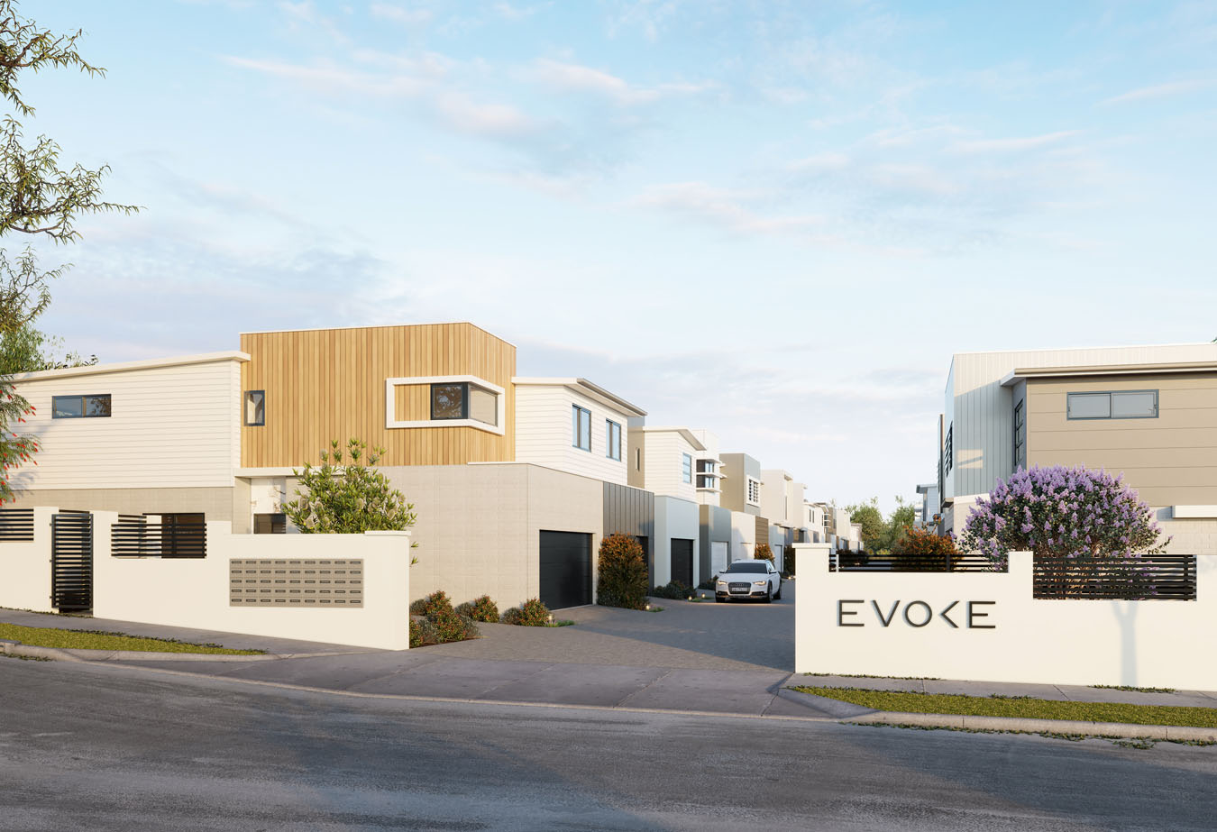 Brisbane Townhouse 4 Bedroom Evoke McDowall - External render