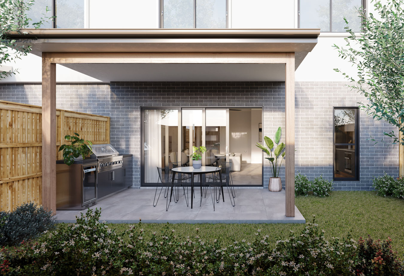 Brisbane Townhouse 4 Bedroom Evoke McDowall - Backyard